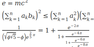 Quicklyst Equations